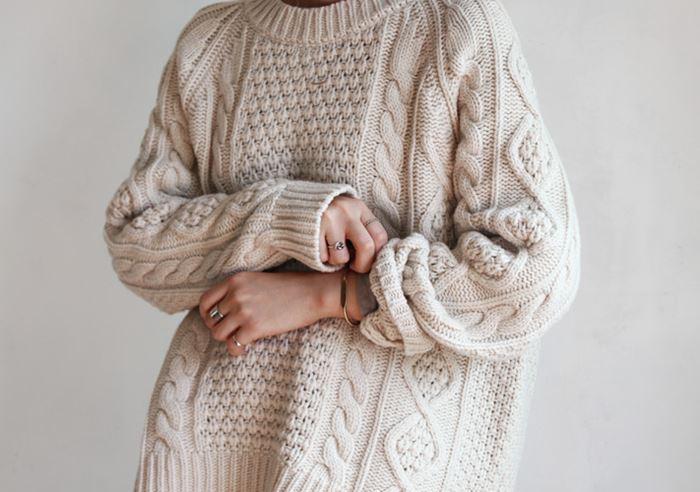Аранский свитер .