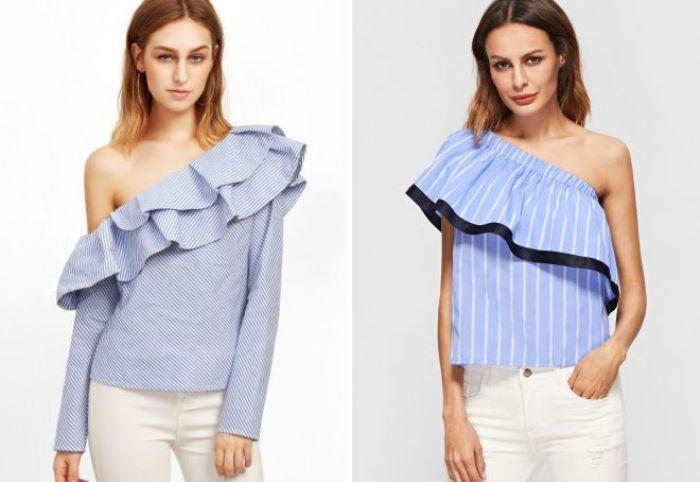 Блузка с волнами.