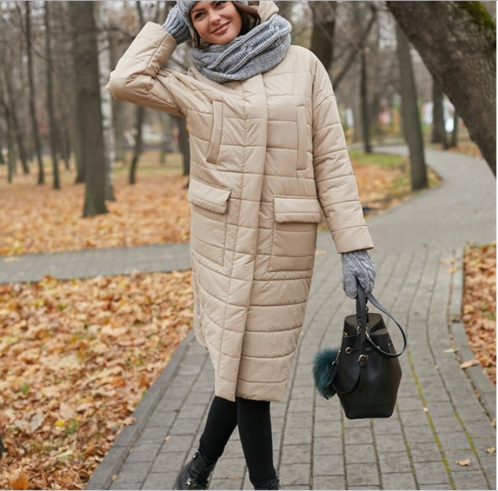 Болоньевое пальто.