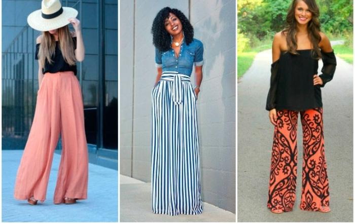 Женские широкие брюки.