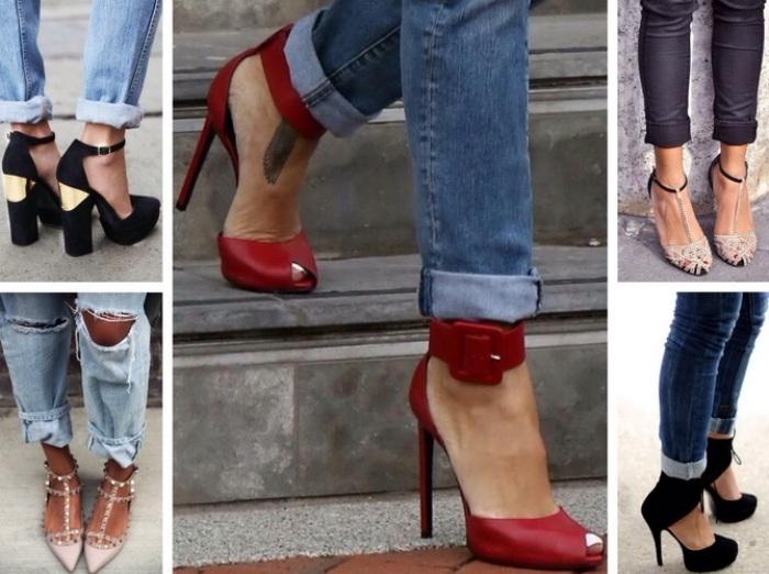 обувь стойкого оттенка.