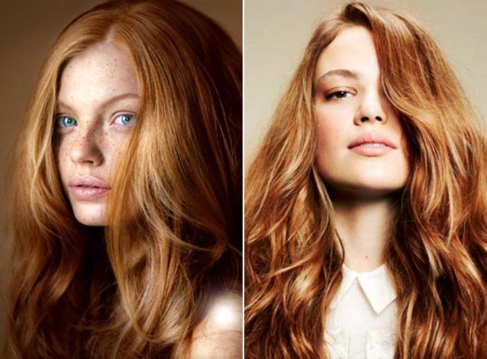 цвет волос имбирь.