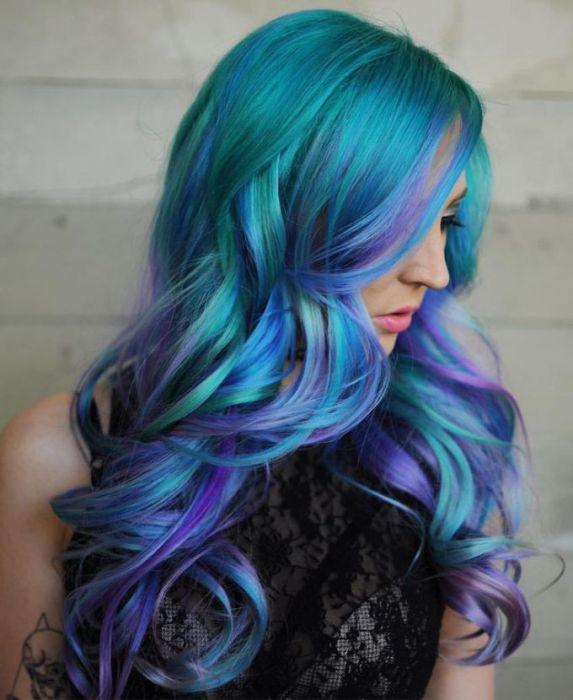 техника окрашивания Galaxy hair.