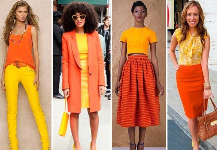 Сочетание оранжевого с желтым
