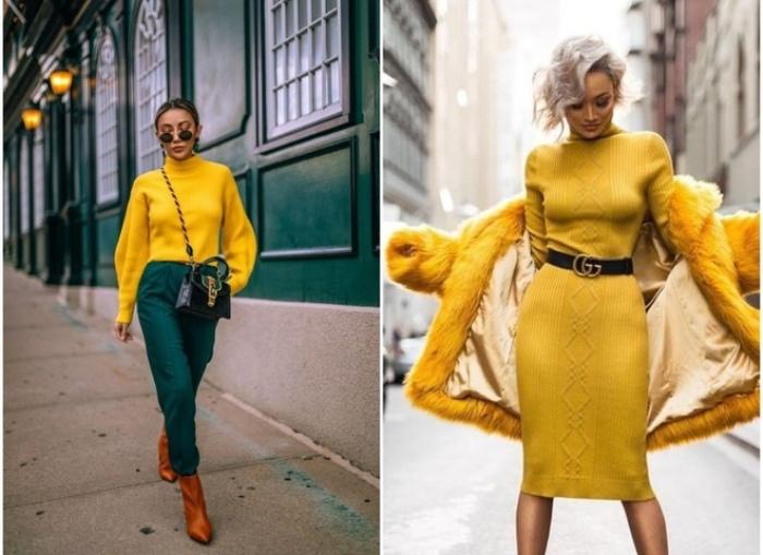 Желтый цвет в одежде.