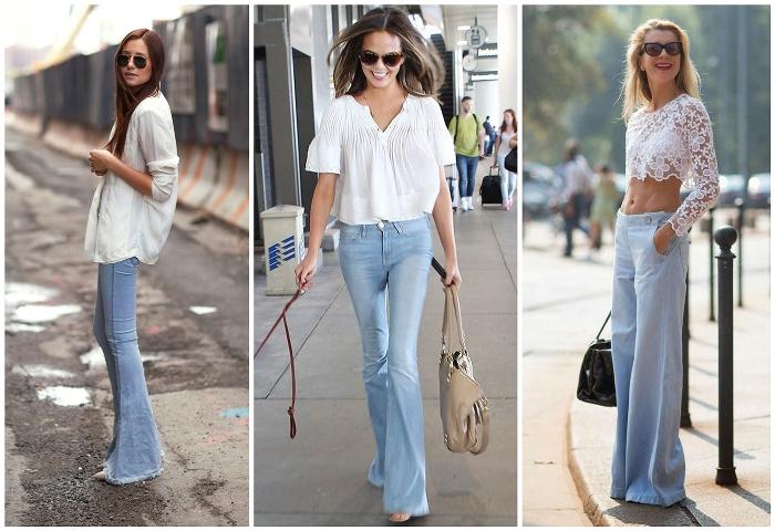 джинсы клеш.