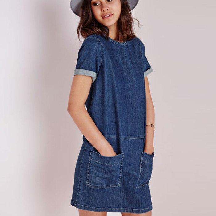 Джинсовое платье летнее.