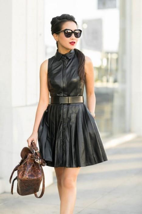 кожаная одежда.