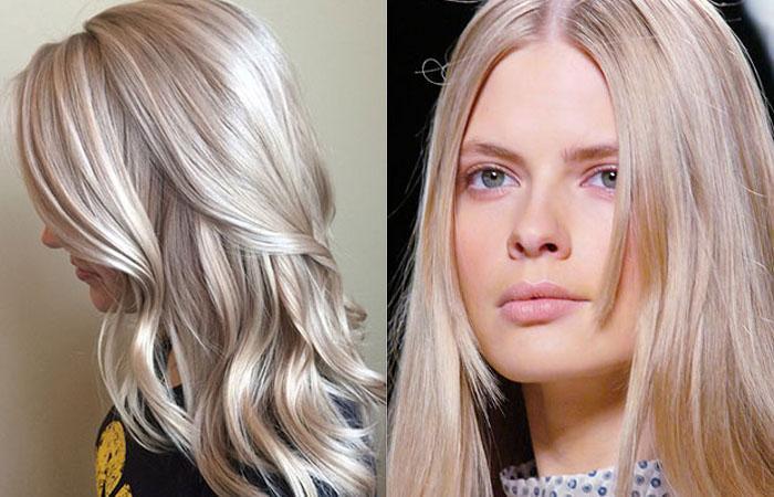 Волосы кремовый блонд.