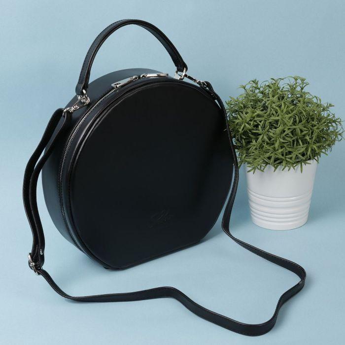 Круглая каркасная сумка.