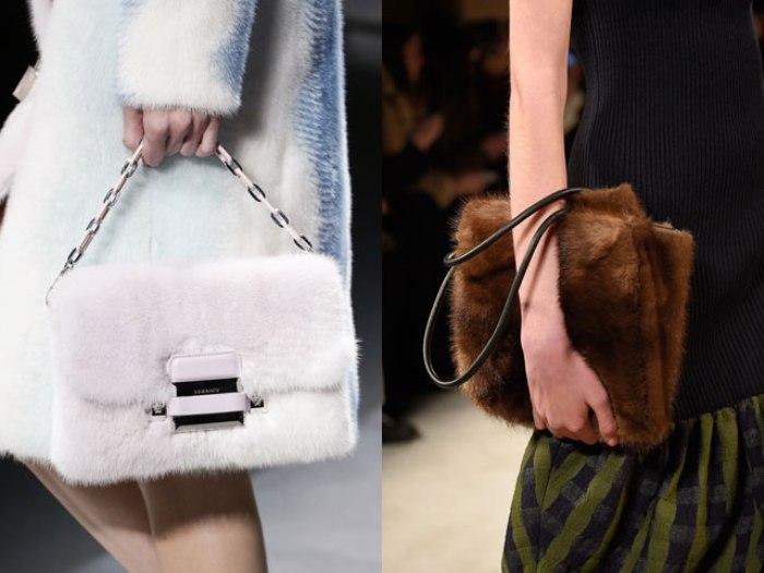 Меховые сумки.