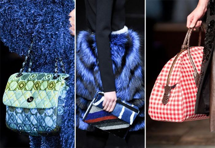 Яркие зимние сумки.