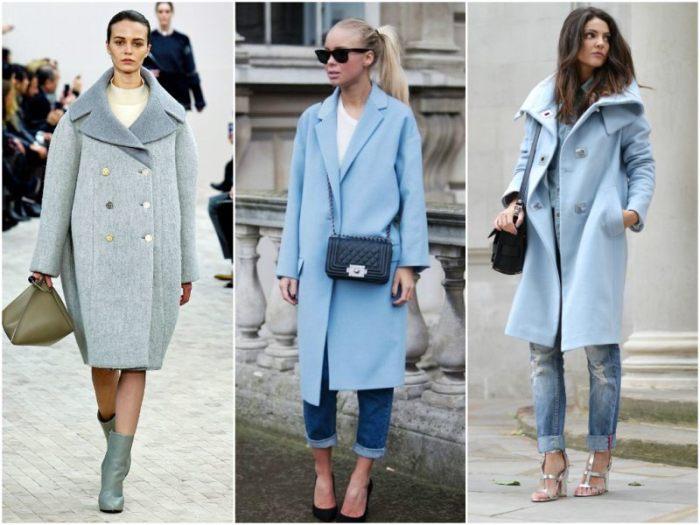 голубое пальто.
