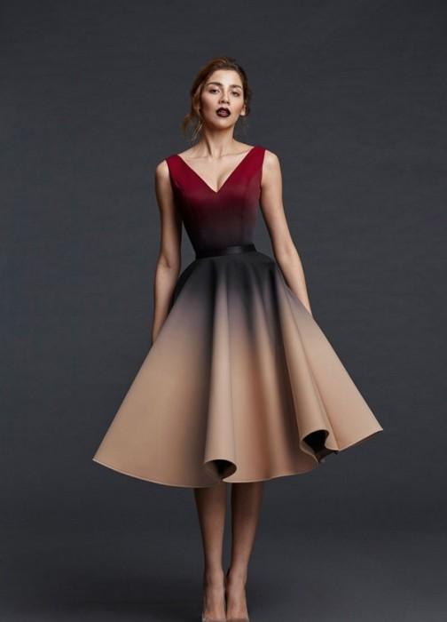 Платье деграде 2019-2020.