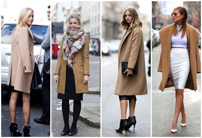 Пальто с юбкой миди.
