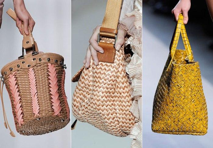 Плетенные сумки.