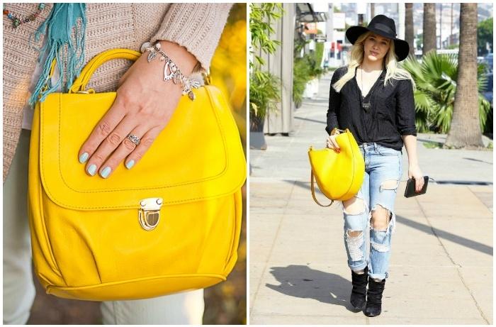 Желтая сумка .