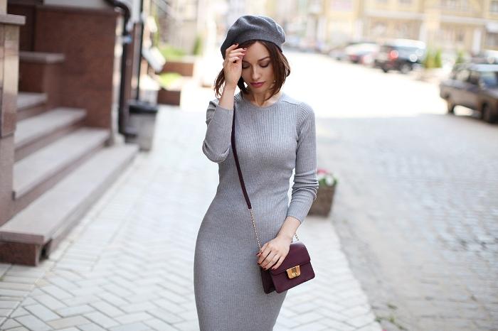 Вязанное платье на зиму.