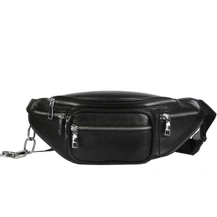 Черная сумка на пояс.