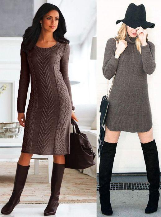 Выбор вязанного платья.