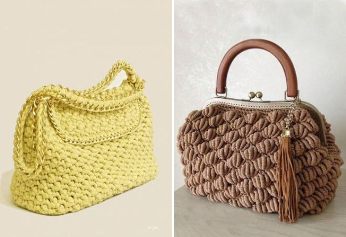 Вязанные сумки.