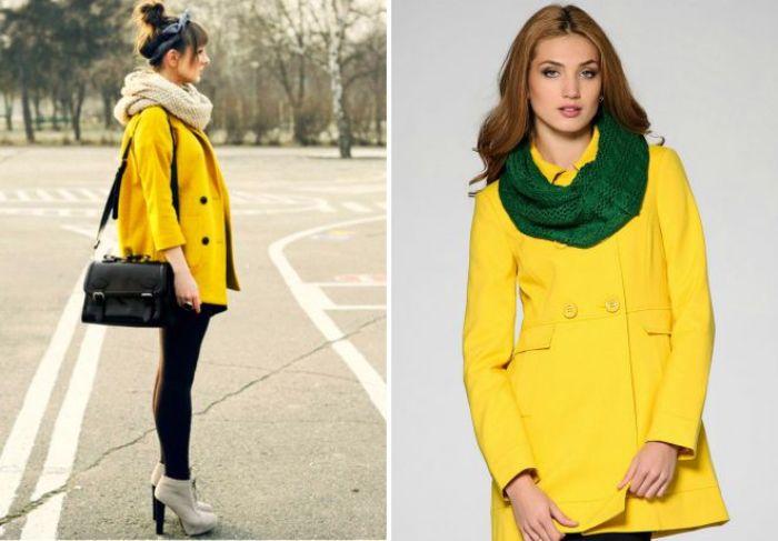 Желтое пальто.