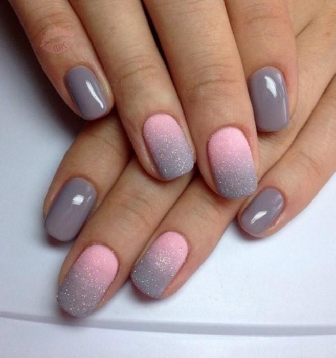 Градиентные ногти.