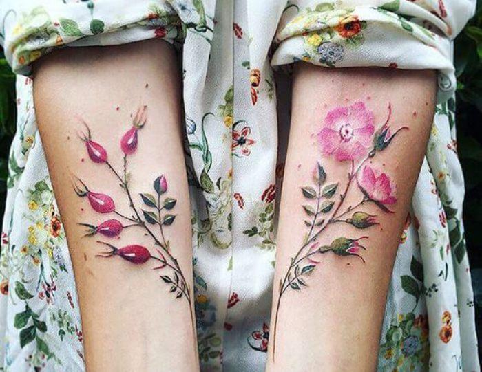 Акварельная татуировка.