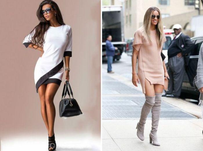 короткие платья.