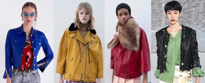 куртки из цветной кожи.