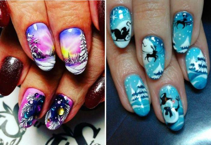 Пейзажи на ногтях.
