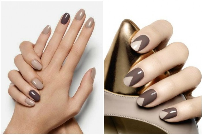 Шоколад на ногтях.