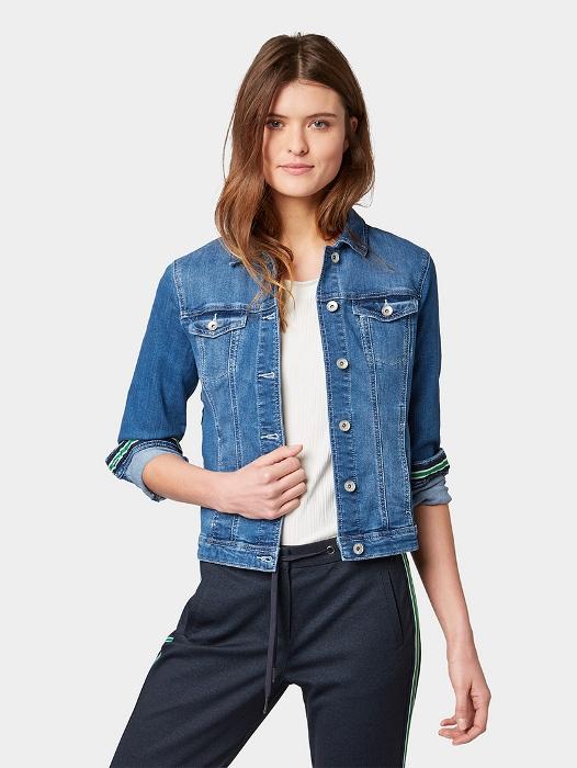 Классическая джинсовая куртка.