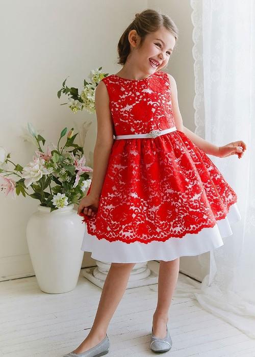 Контрастное платье.