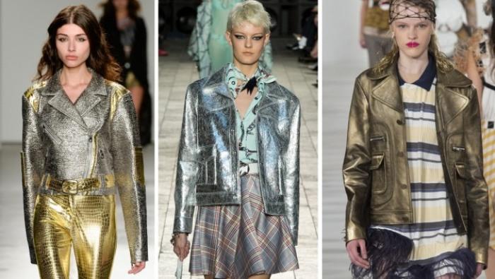 Металлизированные куртки