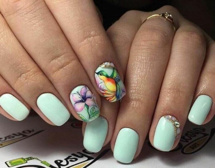 Цветы в дизайне ногтей