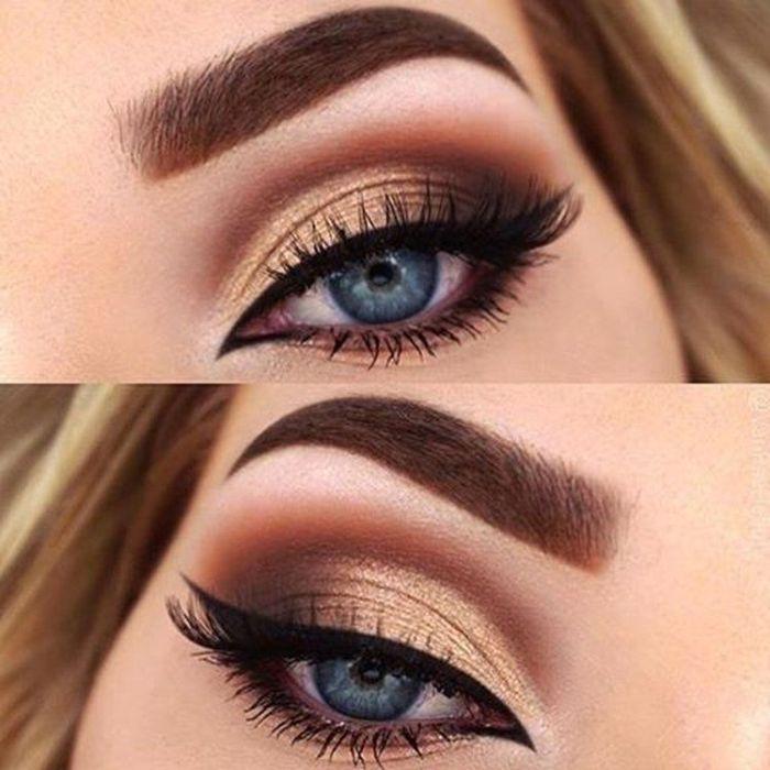 макияж для голубых глаз.