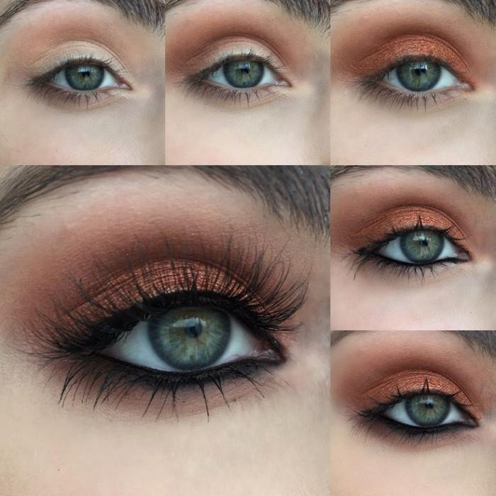 макияж серых глаз.