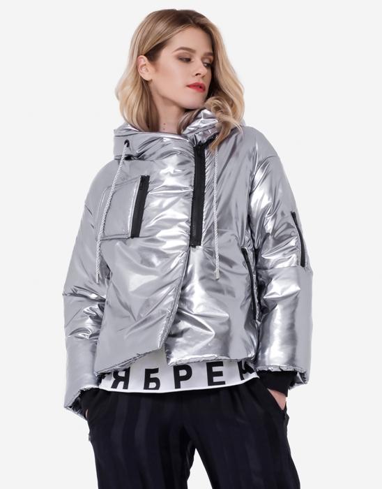 Металлизированная дутая куртка