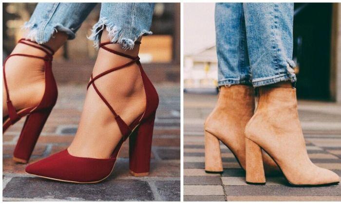 обувь на квадратном каблуке.