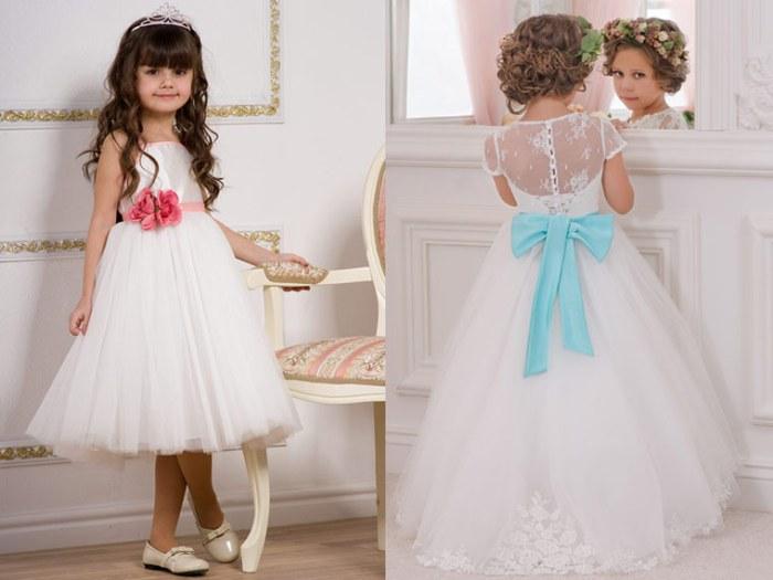 Нарядные белые платья. Модные новогодние платья для девочек в 2020-2021 году.