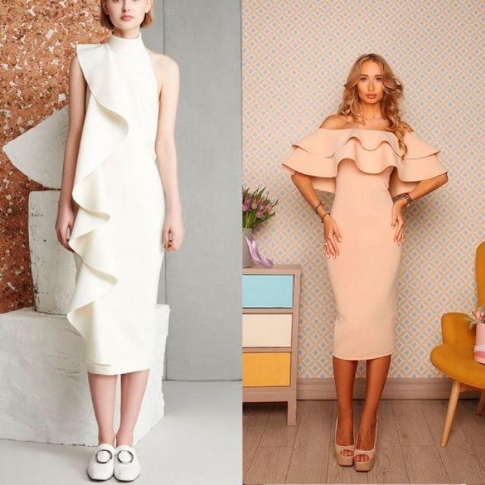 модели летних платьев.