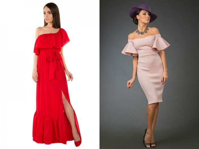 выбор летних платьев.