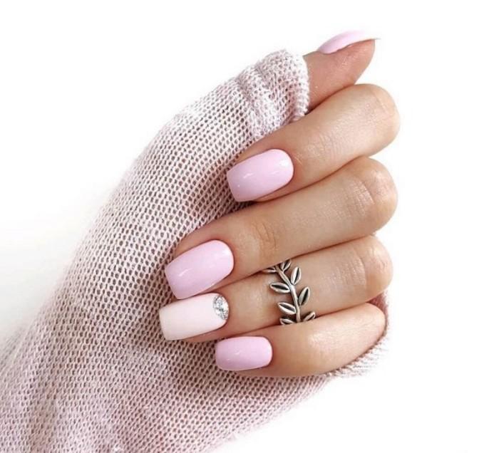 зимний дизайн ногтей.