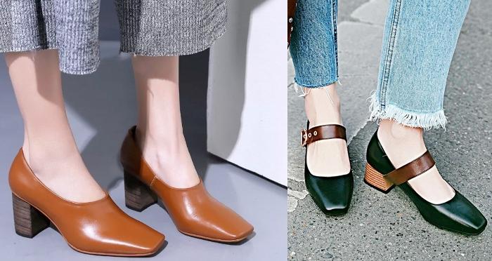 обувь с квадратным носом.