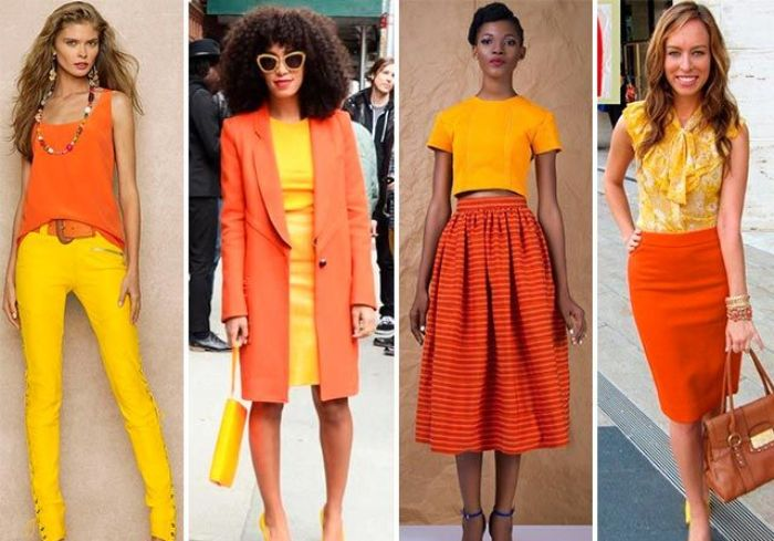 Оранжевый цвет в одежде.