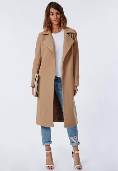 пальто без застежек.