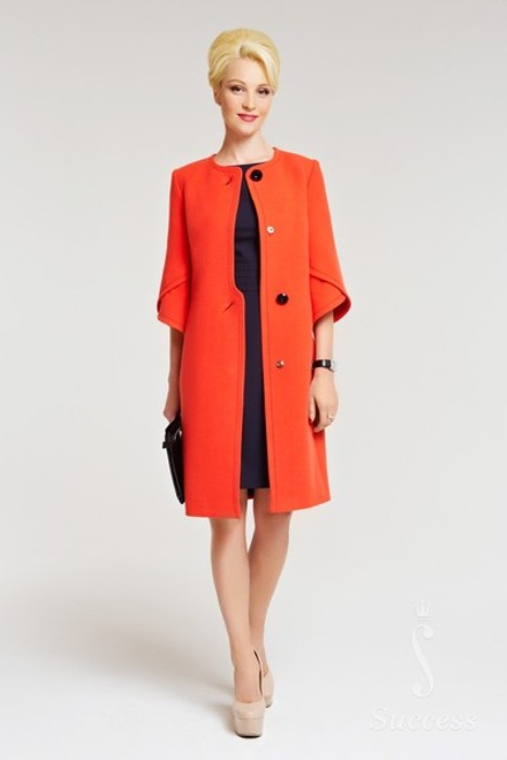 Пальто с рукавом ¾