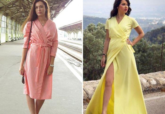Летние платья с запахом.