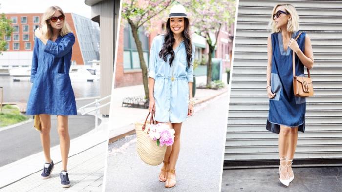 весенние джинсовые платья.